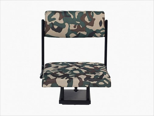 Swivel metal seat