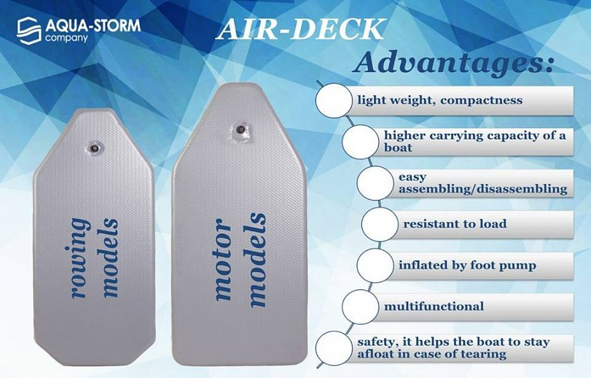 New inflatable flooring Air Deck